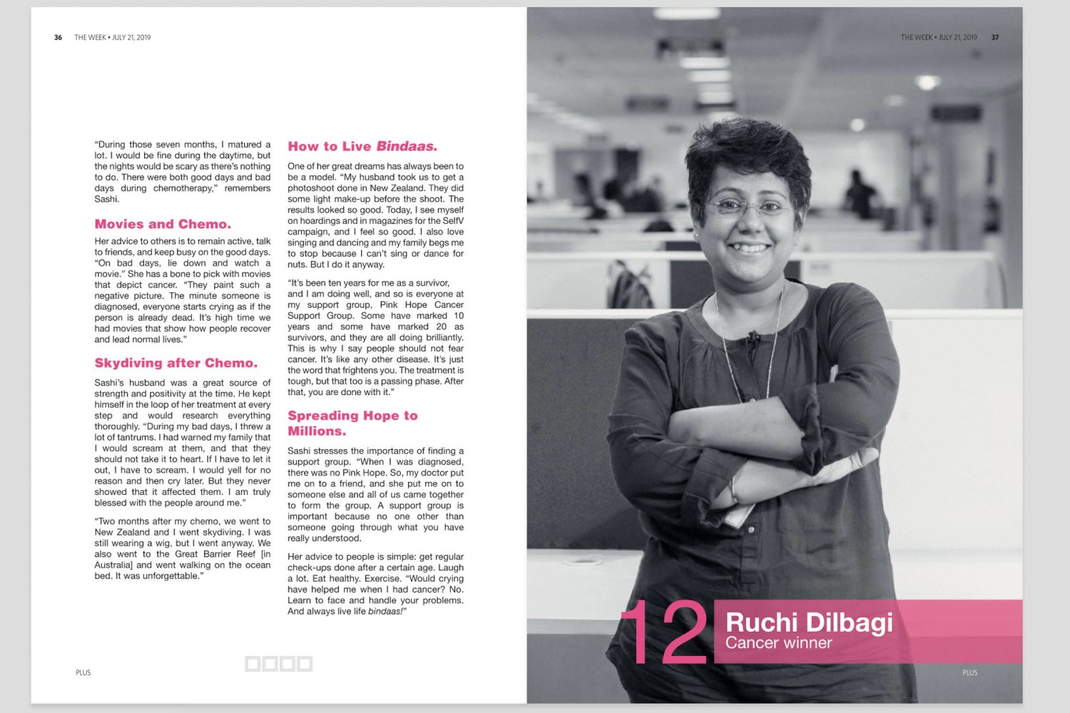 Editorial portrait of Ruchi Dilbagi in The Week