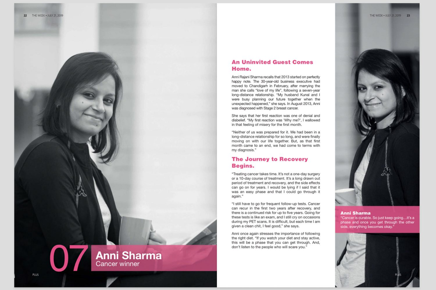 Editorial portrait of Anni Sharma in The Week