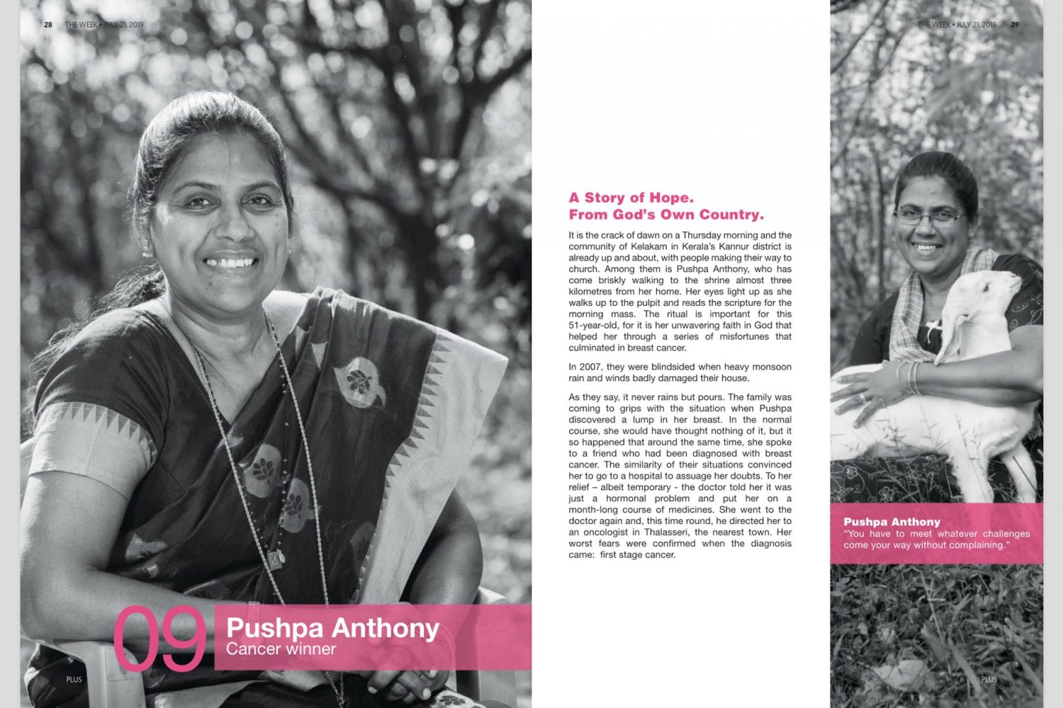Editorial portrait of Pushpa Anthony in The Week
