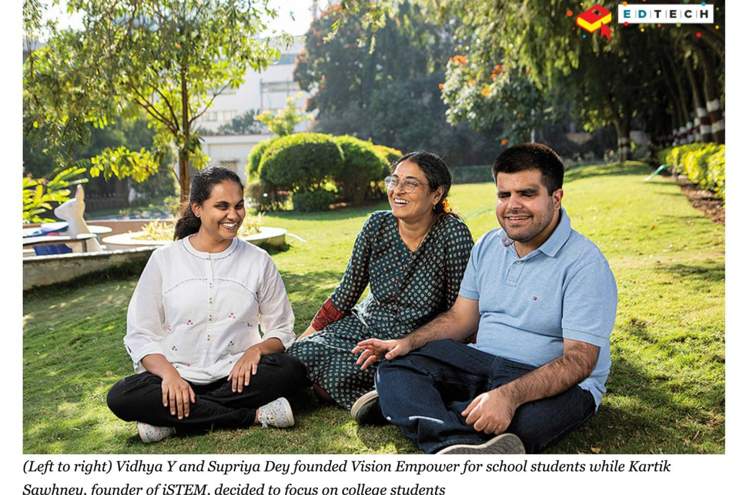 Editorial portrait with Vision Empower Team in Forbes India