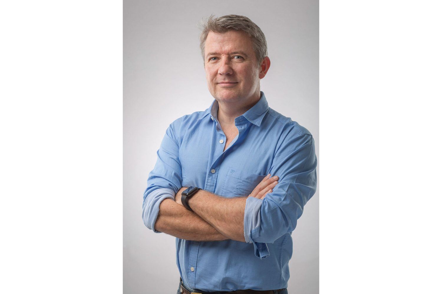 Editorial Portrait of founder and CEO Stuart Crighton